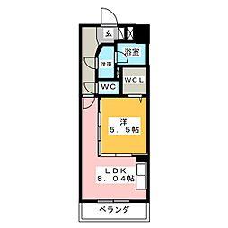 ロイヤルピジョン岩塚[3階]の間取り