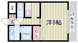 ラ・コート・ドール新神戸[3階]の間取り