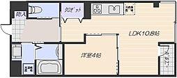 広島電鉄宮島線 広電五日市駅 徒歩26分の賃貸マンション 3階1LDKの間取り