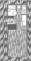 東京都世田谷区中町2丁目の賃貸マンションの間取り