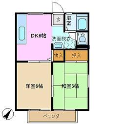 サンハイツ樹[2階]の間取り