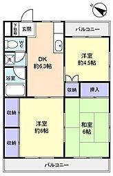 唐沢マンション[2階]の間取り