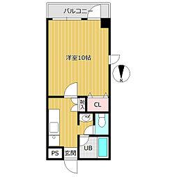 Kハウス[101号室]の間取り