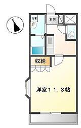 JR高崎線 本庄駅 徒歩35分の賃貸アパート 2階1Kの間取り