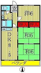 エクセレント富士見台[3階]の間取り