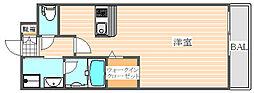 エンクレストベイ天神東2[2階]の間取り