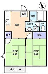 メゾン・チトセ[2階]の間取り