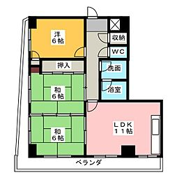 メゾン・ド・ボヌー小田井[4階]の間取り
