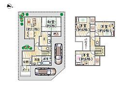 京阪本線 樟葉駅 バス11分 招提中町下車 徒歩4分 4LDKの間取り
