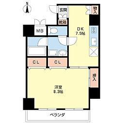 新潟県新潟市中央区西堀前通1番町の賃貸マンションの間取り