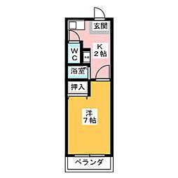 愛知県名古屋市中川区花池町3の賃貸アパートの間取り