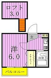北松戸第8レジデンス[103号室]の間取り