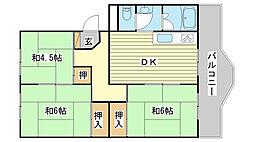 ローレルハイツ田井 A棟・B棟[B519号室]の間取り