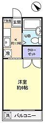 EST壱番館[2階]の間取り