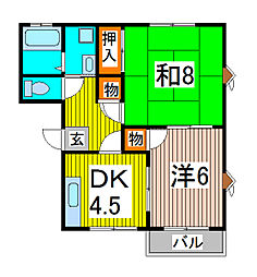 メゾンラフォーレ[1階]の間取り