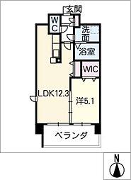 アンジュー VI[3階]の間取り