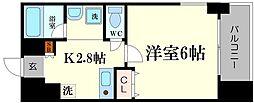 WillDo難波wI[11階]の間取り
