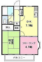 東京都世田谷区喜多見5丁目の賃貸アパートの間取り