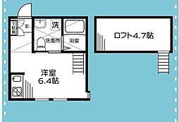 BEAMS富岡東S[2階]の間取り