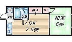 豊中マンション[303号室]の間取り