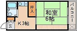 広島県広島市東区上大須賀町の賃貸マンションの間取り