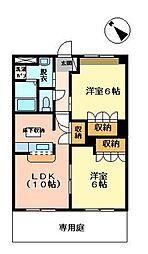 TOMARA 横尾[203号室]の間取り