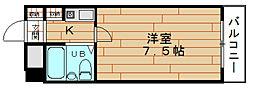 サンライズ千代崎[8階]の間取り