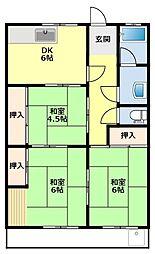 愛知県豊田市田中町5丁目の賃貸マンションの間取り