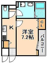 兵庫県伊丹市清水4丁目の賃貸アパートの間取り