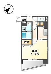 愛知県名古屋市西区押切1丁目の賃貸マンションの間取り