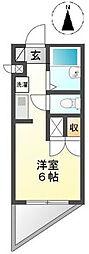 東京都八王子市左入町の賃貸マンションの間取り