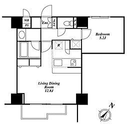 Roppongi Residences ロッポンギレジデンシーズ[7階]の間取り