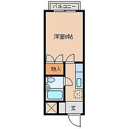 姉崎グリーンハイツⅡ[203号室]の間取り