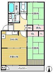 前田ハイツ7号室[723号室]の間取り