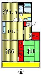 プリマヴェーラ八柱[401号室]の間取り