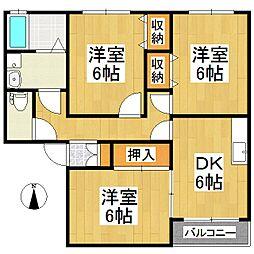 ランドベアー21 B棟[2階]の間取り