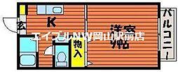 岡山県岡山市東区上道北方の賃貸アパートの間取り