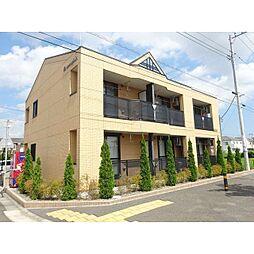 茨城県つくばみらい市富士見ヶ丘2丁目の賃貸アパートの外観