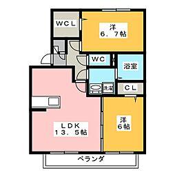 TWILIGHT II[2階]の間取り