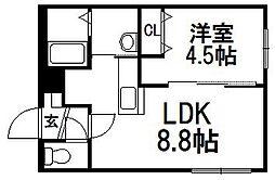 仮称)東札幌3−3[4階]の間取り