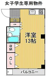 ハイツ小山台[1階]の間取り