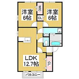 GENIAL A棟[2階]の間取り