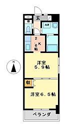 コアレジデンス[7階]の間取り