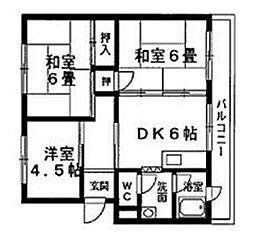 コーポ若竹[305号室]の間取り