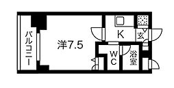 Osaka Metro堺筋線 堺筋本町駅 徒歩3分の賃貸マンション 9階1Kの間取り