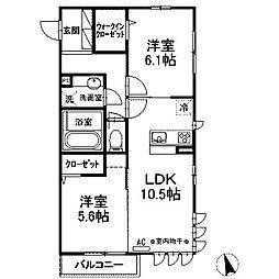 (仮)D-room西大沼[2階]の間取り