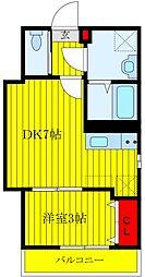 JR京浜東北・根岸線 王子駅 徒歩10分の賃貸マンション 1階1DKの間取り