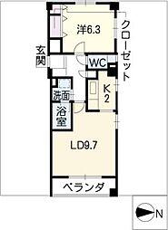 オークハウス千種[3階]の間取り