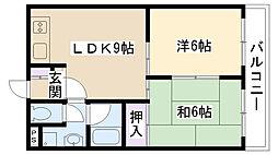大阪府摂津市鳥飼八防1丁目の賃貸マンションの間取り