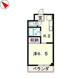メゾンYK[2階]の間取り